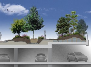 The Mandarin Project Green Roof Garden On A Parking