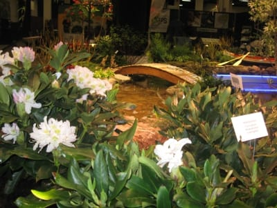 """Eden on the Charles,"" MA Horticultural Society's exhibit at the 2014 Boston Flower & Garden Show won the ELA Environmental Vision award."