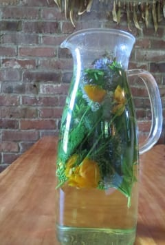 Tea made from anise hyssop and California poppy relaxes and aids digestion.