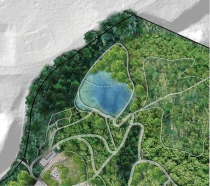 A master plan for garden in the woods ecological for Bog filter design
