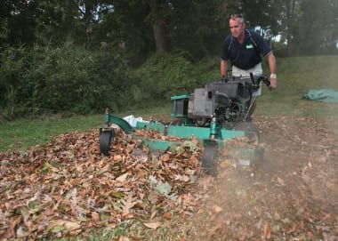 Equipped with Gator Blades and Vulcher Safety Mulcher, my mower turns leaves into tiny fragments.