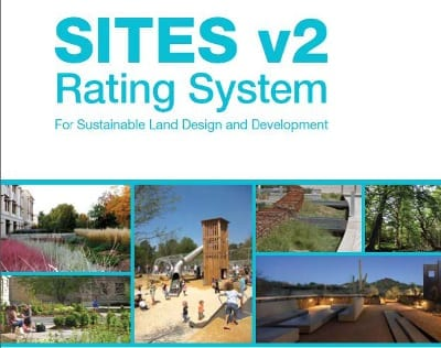 The cover of SITES v2. Courtesy of the Sustainable Sites Initiative.