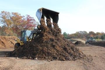 The first step in the composting process is mixing the raw materials.
