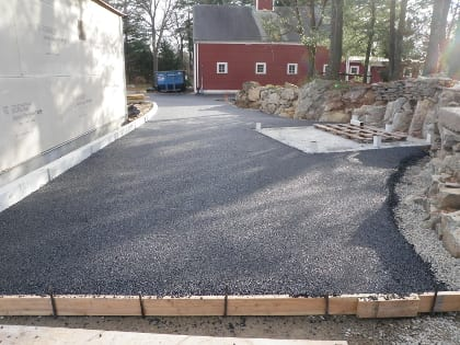 Driveway shown after installation.