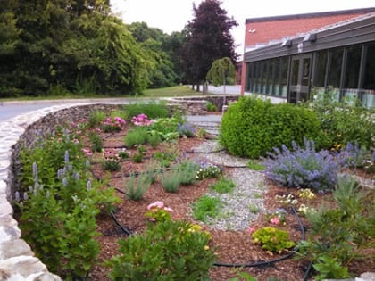 Installation of the Herb Garden was completed just in time for Graduation June 2014.