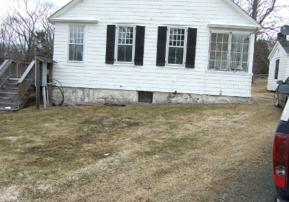 This is the site that was chosen for the new vegetable garden. Cochecton NY, April 2014.