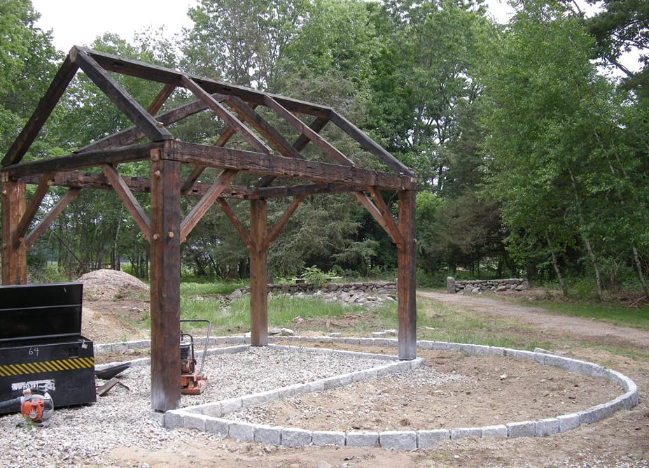The site is home to an arbor the same dimensions as Thoreau's cabin. It is built from salvaged timbers, some of which are older than America itself!