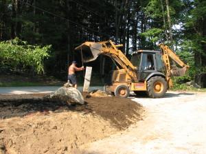 Setting Granite Post