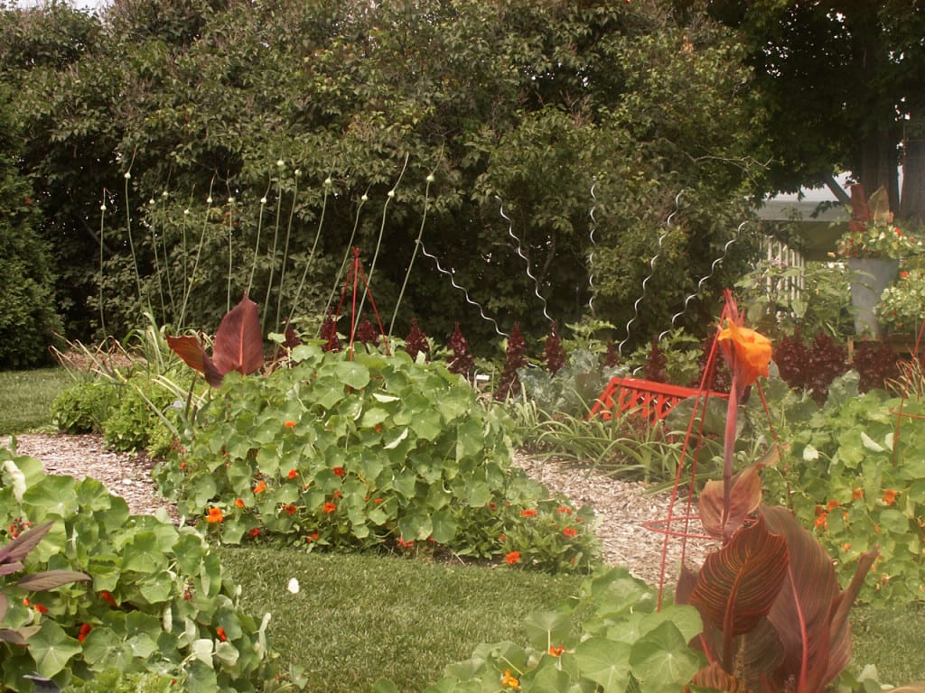 A little whimsy in the garden encourages