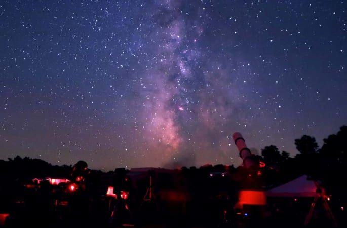 Star party at Cherry Springs. Photo by Terrence Dickinson.
