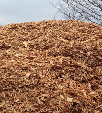 wood chips up closel