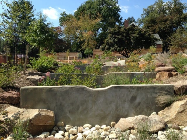 Tiered rain gardens. Photo: Nancy Striniste