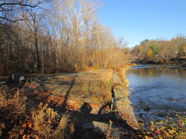"The ""gabions"" area along Fall creek. Photo by Krissy Boys"