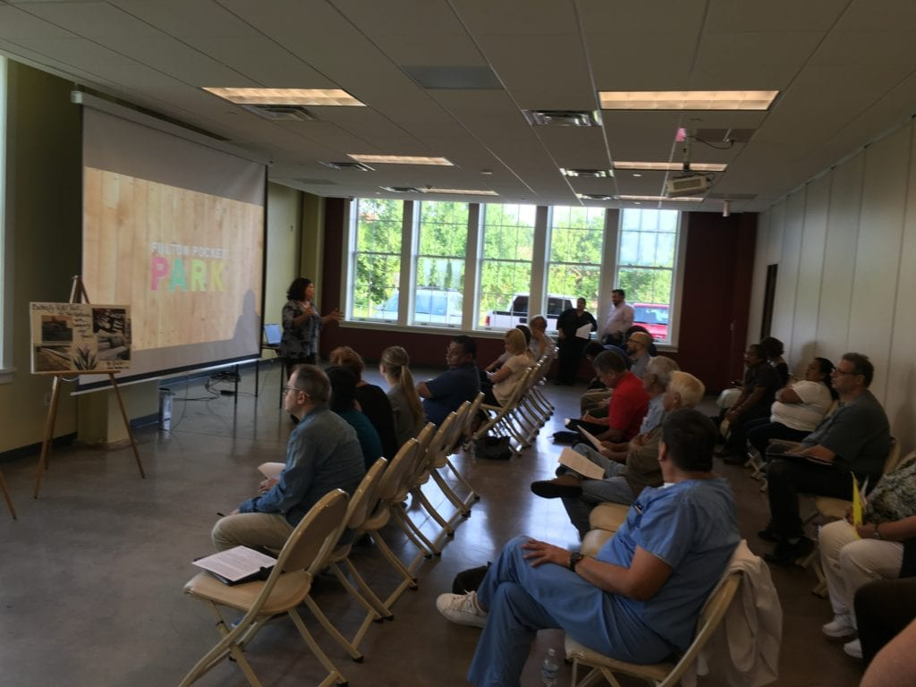 The first community meeting solicited feedback from the community and allowed the OAH team to decide which design would be pushed forward to the final design phase.