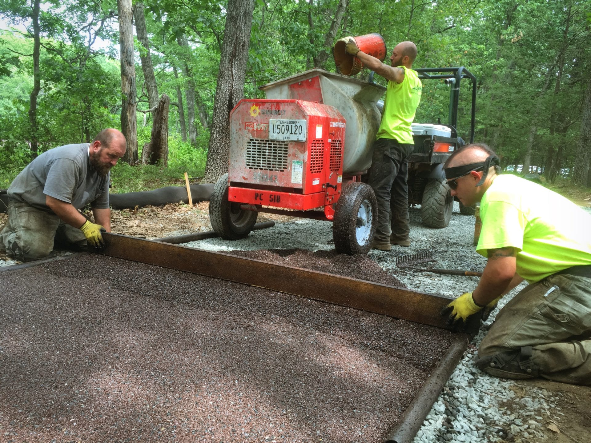 Trevor Smith Installing Permeable Pavement