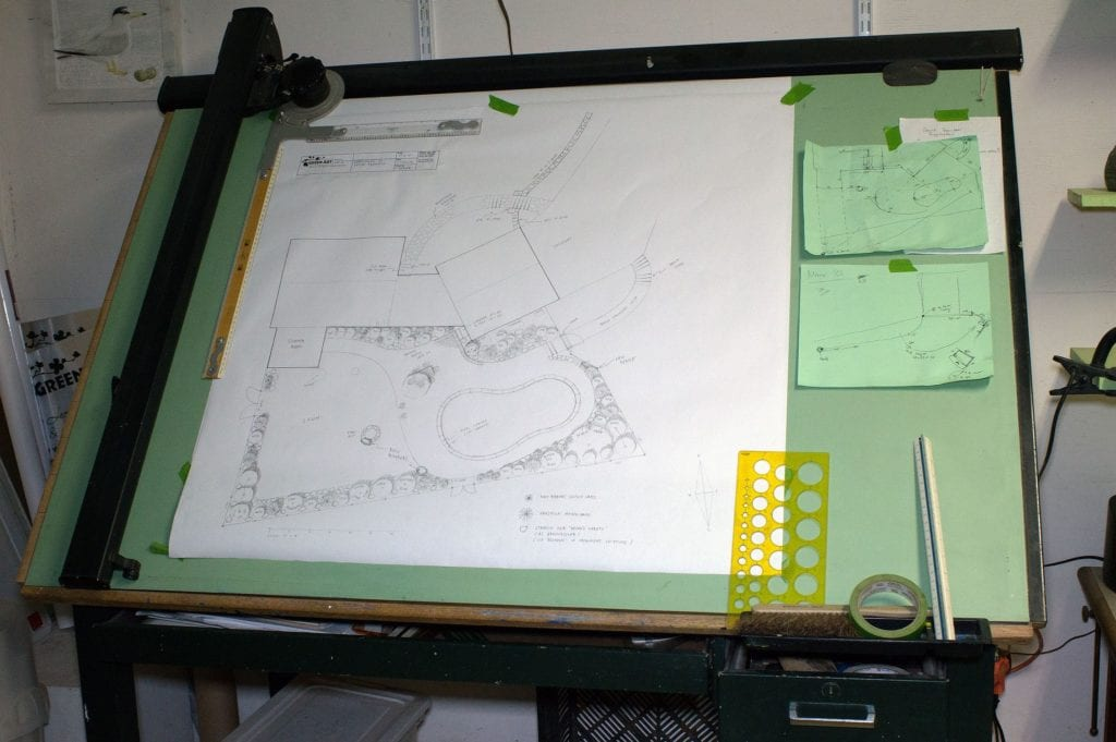 I draw my designs by hand on an old-fashioned drafting board. It feels more like an art than a technical process.